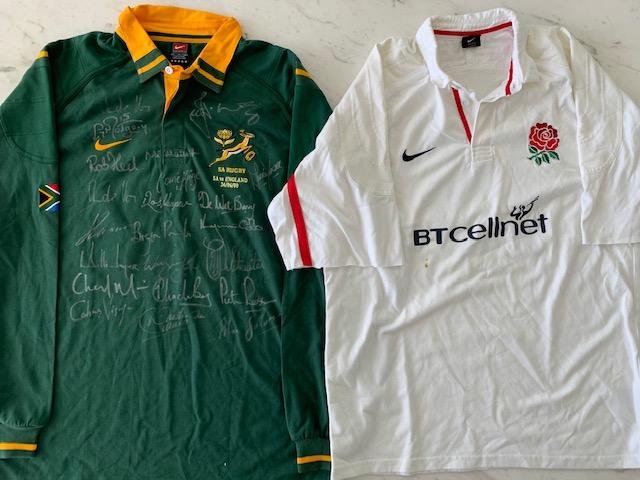 2000 Rugby Jersey Set SA vs England