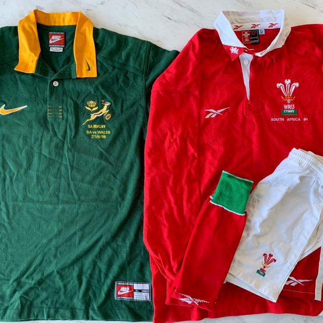 1998 Rugby Jersey Set SA vs Wales
