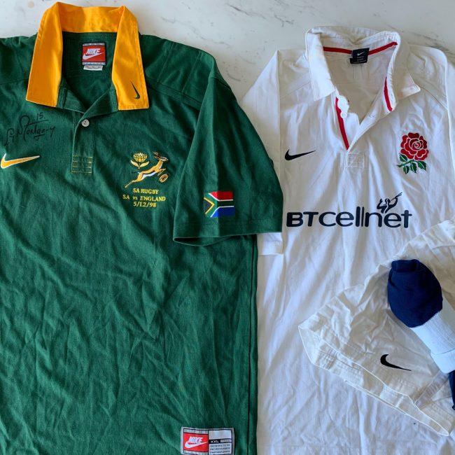 1998 Rugby Jersey Set SA vs England