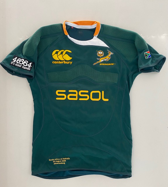 2008 Last Test Match Springbok Rugby Jersey